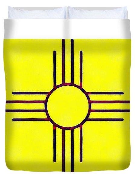 Original New Mexico Zia Flag Duvet Cover