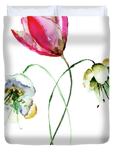 Original Summer Flowers Duvet Cover