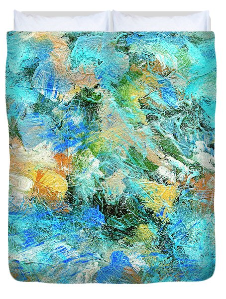 Duvet Cover featuring the painting Orinoco by Dominic Piperata