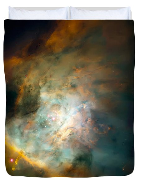 Orion Nebula Mosaic  Duvet Cover by Jennifer Rondinelli Reilly - Fine Art Photography