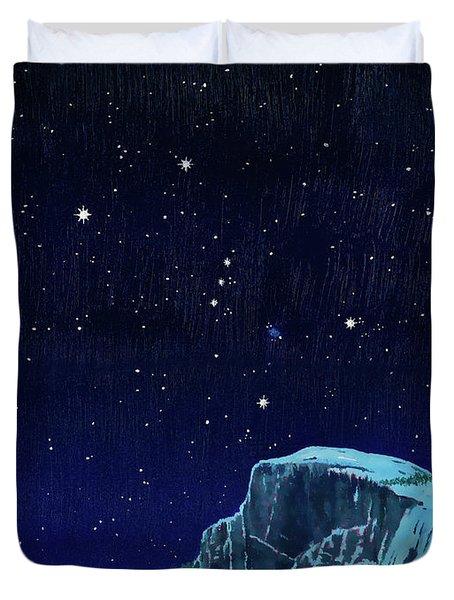 Orion Over Yosemite Duvet Cover
