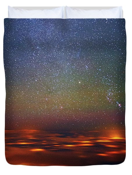 Orion Rising Duvet Cover