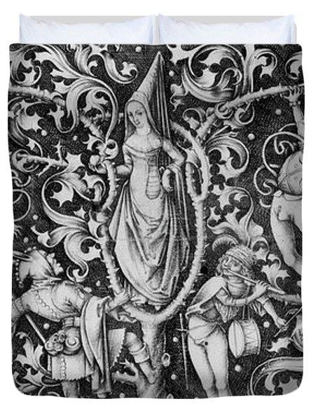Ornament With Morris Dancers Duvet Cover