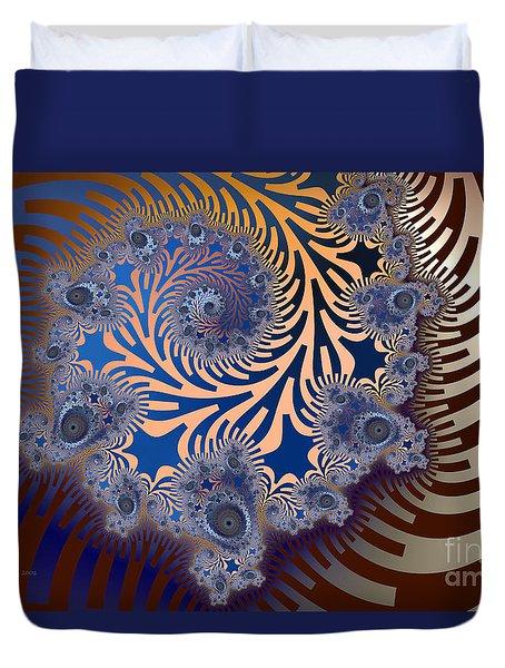 Duvet Cover featuring the digital art Ornamental by Karin Kuhlmann