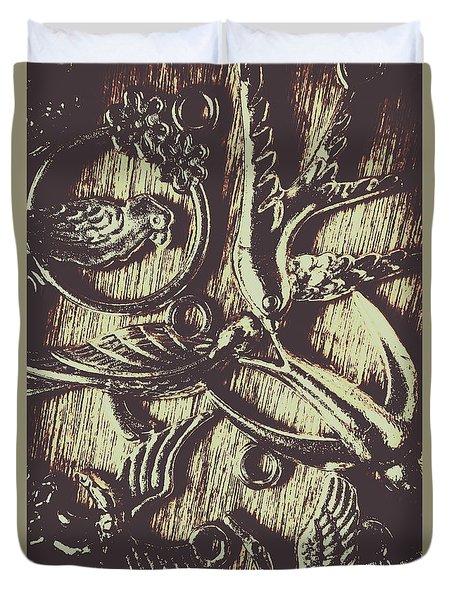 Ornamental Ornithology Duvet Cover