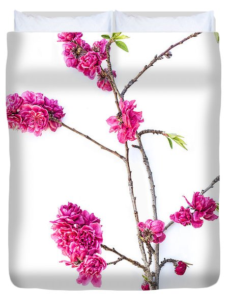 Duvet Cover featuring the photograph Ornamental Peach  by Elena Nosyreva