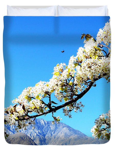 Ornamental Pear Blossoms 10 Duvet Cover