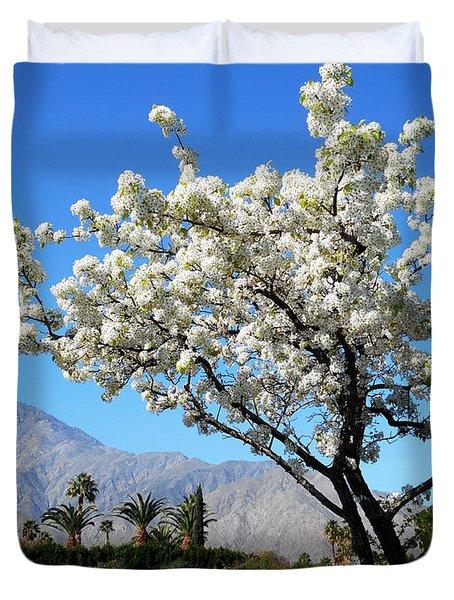 Ornamental Pear Blossoms 2 Duvet Cover