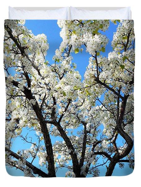 Ornamental Pear Blossoms 6 Duvet Cover