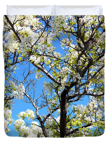 Ornamental Pear Blossoms 8 Duvet Cover