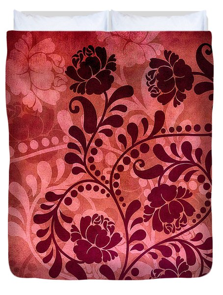 Duvet Cover featuring the digital art Ornamental Romance by Angelina Vick