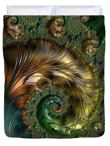 Ornamental Shell Abstract Duvet Cover
