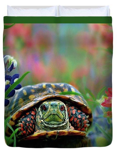 Ornate Box Turtle Duvet Cover