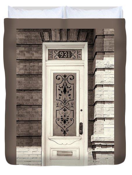 Ornate Glass Panel Duvet Cover