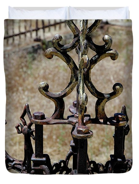 Ornate Iron Works Virginia City Nv Duvet Cover by LeeAnn McLaneGoetz McLaneGoetzStudioLLCcom