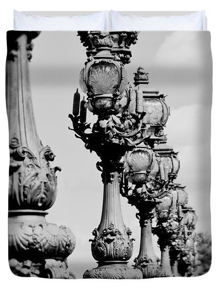 Ornate Paris Street Lamp Duvet Cover