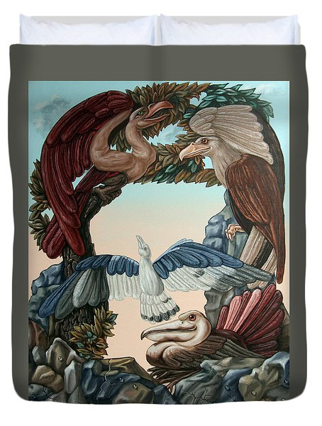 Ornithological Symphony By Ludwig Van Beethove Duvet Cover