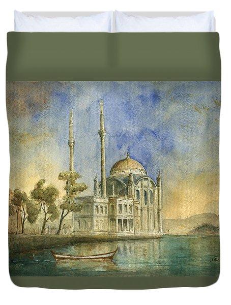 Ortakoy Mosque Istanbul Duvet Cover