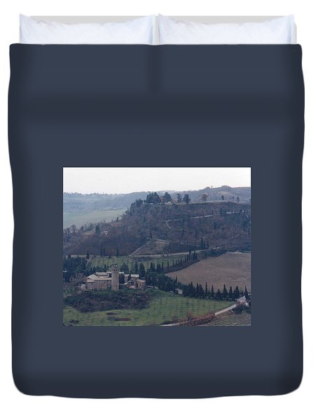 Duvet Cover featuring the photograph Orveito Italy by Marna Edwards Flavell