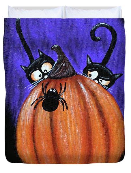 Oscar And Matilda - A Spider Oh Heck No Duvet Cover