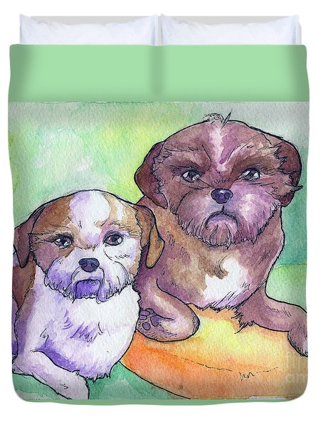 Oscar And Max Duvet Cover