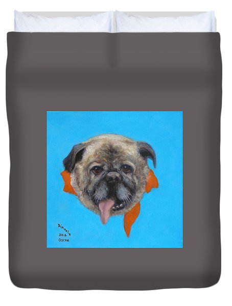 Duvet Cover featuring the painting Oscar by Donelli  DiMaria