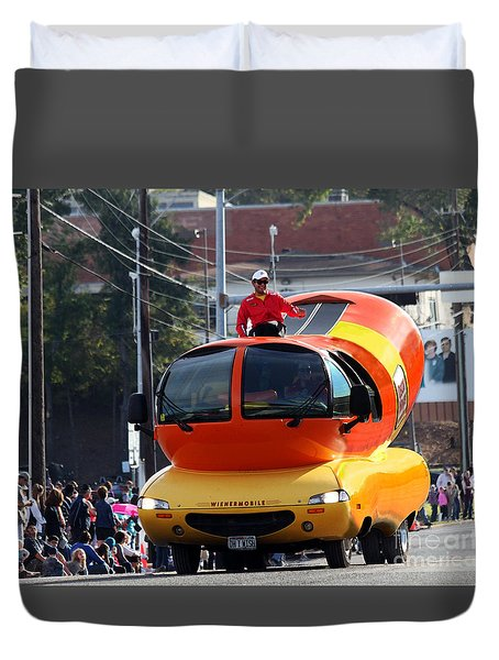 Oscar Mayer Wienermobile Duvet Cover
