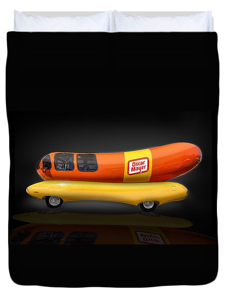Oscar Mayer Wiener Mobile Duvet Cover by Gary Warnimont