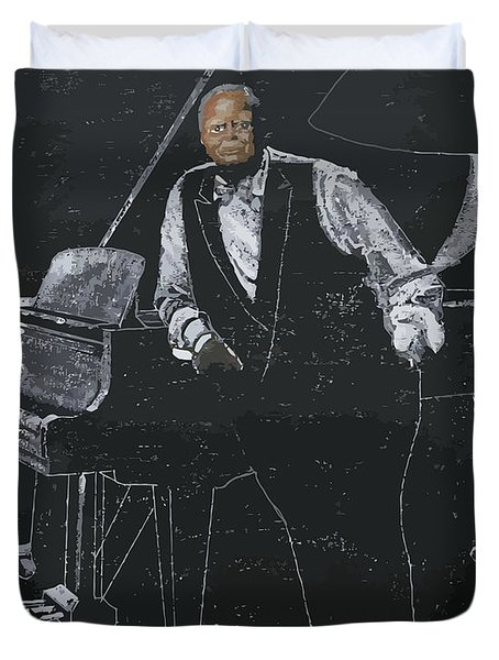 Oscar Peterson Duvet Cover