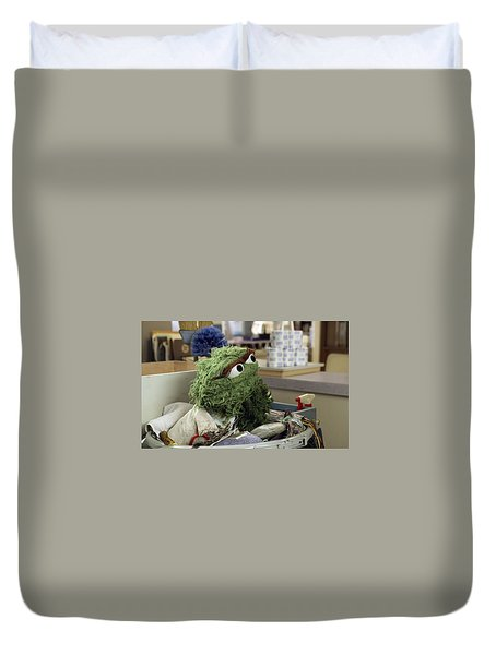 Oscar The Grouch Duvet Cover