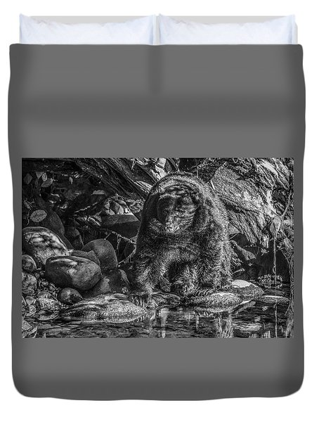 Oservant Black Bear  Duvet Cover