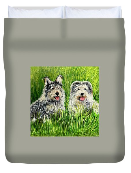 Oskar And Reggie Duvet Cover