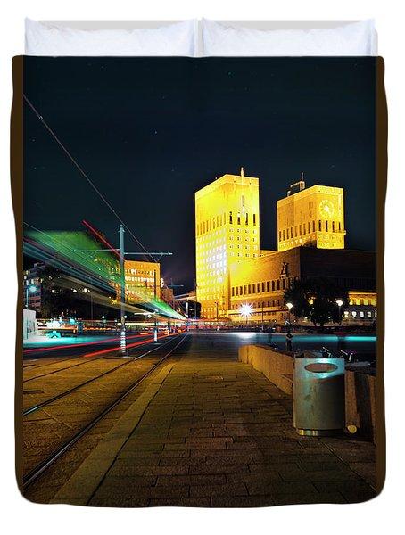 Oslo Town Hall Duvet Cover