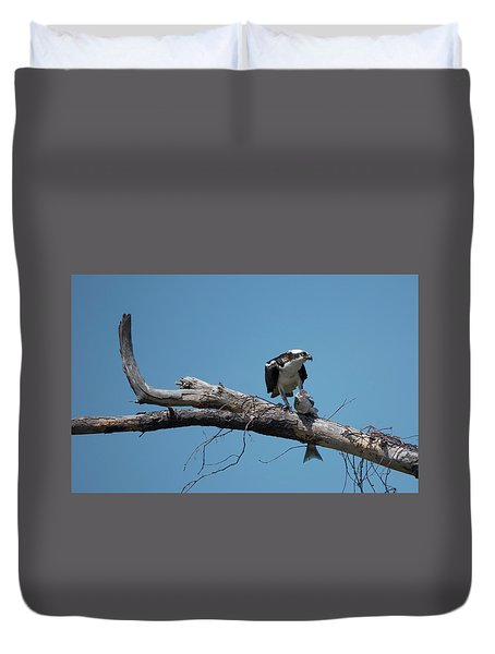 Osprey And Fish Duvet Cover