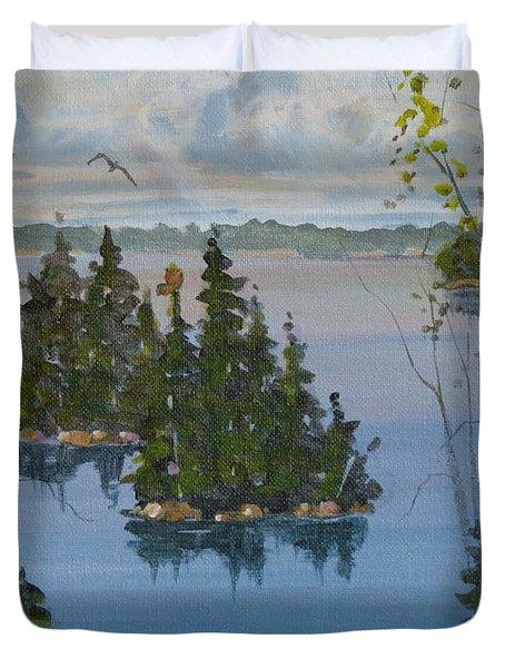 Osprey Island Study Duvet Cover