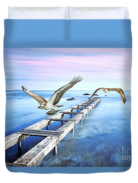Osprey On The Move Duvet Cover