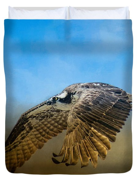 Osprey Over Pickwick Duvet Cover