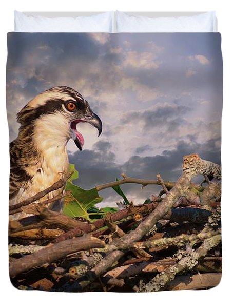Osprey Talk Duvet Cover