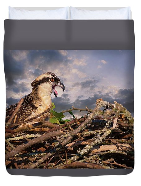 Osprey Talk Duvet Cover