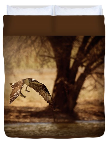 Osprey With Lunch Duvet Cover