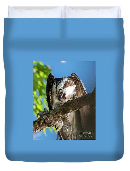 Osprey With Prey Duvet Cover