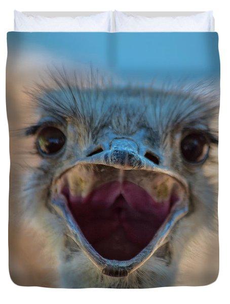 Ostrich Big Mouth Duvet Cover