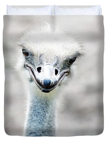 Ostrich Duvet Cover by Lauren Mancke