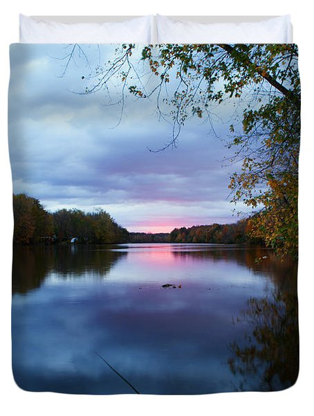 Oswego River Duvet Cover by Everet Regal