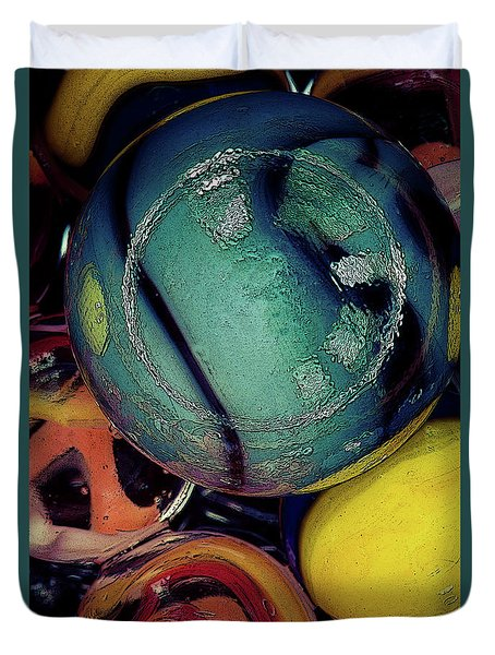 Other Worlds I Duvet Cover by Shelly Stallings