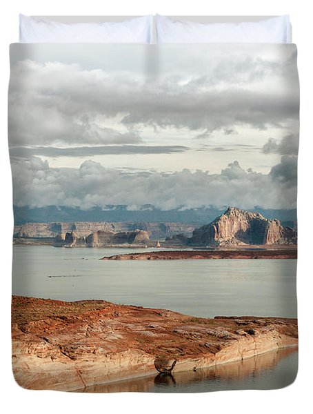 Otherworldly Morning At Lake Powell Duvet Cover by Sandra Bronstein
