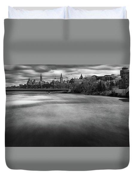 Ottawa Spring Flood Duvet Cover