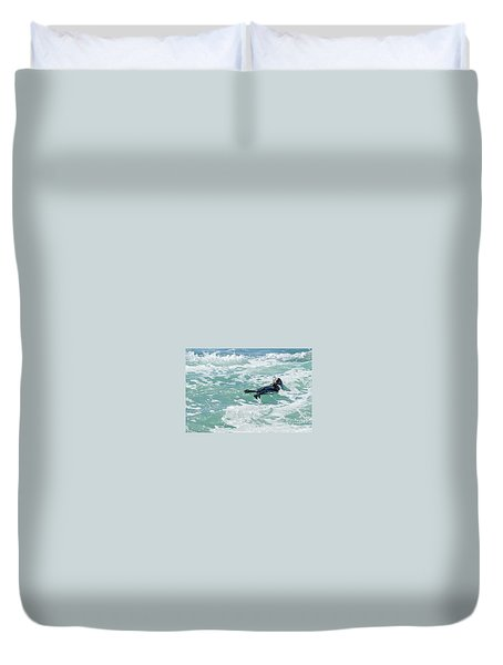 Otter At Montana De Oro Duvet Cover