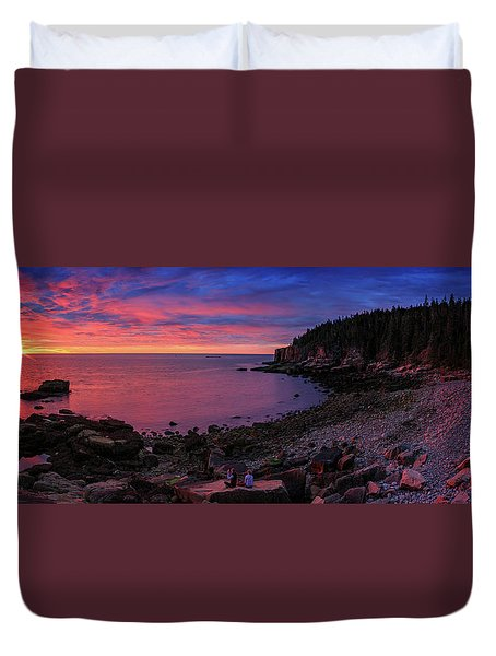 Duvet Cover featuring the photograph Otter Beach Maine Sunrise  by Emmanuel Panagiotakis
