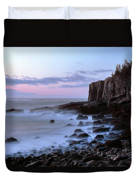 Otter Cliff Awash Duvet Cover